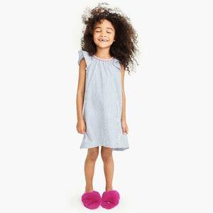 NEW J. Crew Girls Faux-Fur Slippers Blue Kids 11